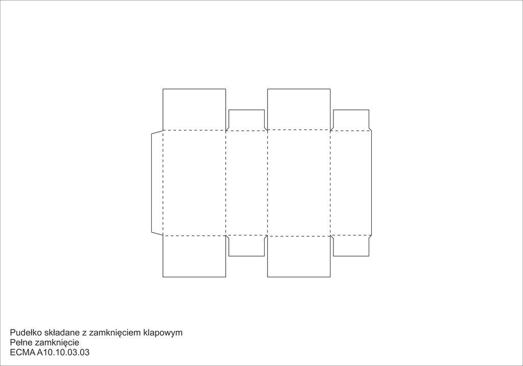 Pudełko składane z zamknięciem klapowym Pełne zamknięcie
