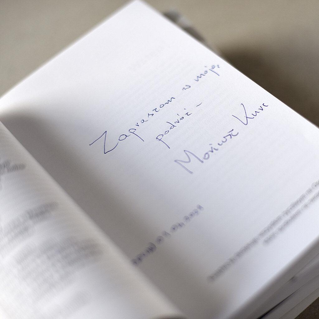 Mariusz Kurc autograf książki Na obrzeżach świata w centrum życia